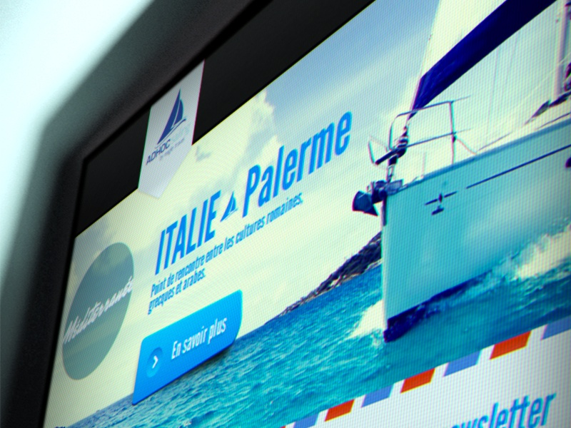 Sailing website redesign boat sailing vacation holidays sea italia web design webdesign sail