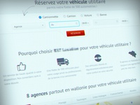 Car rent website redesign