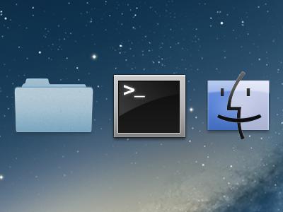 Mac OS X icons Fireworks freebie mac osx os x icons fireworks freebie vector terminal folder finder