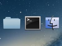 Mac OS X icons Fireworks freebie