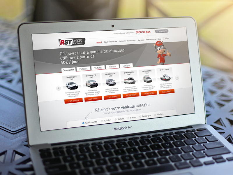 RST Location redesign cars truck rent webdesign web design car trucks