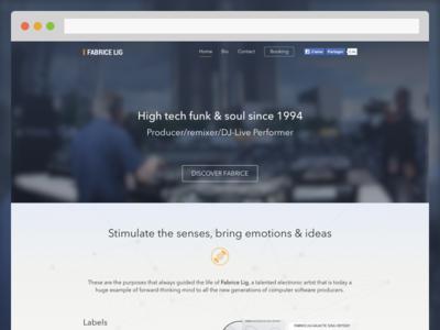 FabriceLig.com techno dj music webdesign web design detroit