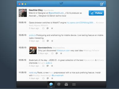 Twitter app design