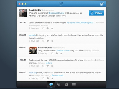 Twitter app design twitter tweet retweet favorite message follow app ios ui ux design interface sketch sketchapp sketch app osx gui mac mac os