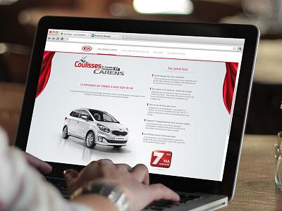 Kia Carens web site webdesign ui ux kia layout site page website web site cars motor vehicule engine car smooth scroll smooth scrolling web design