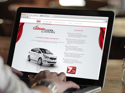 Kia Carens web site