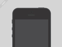 Simple vector iPhone Sketch freebie