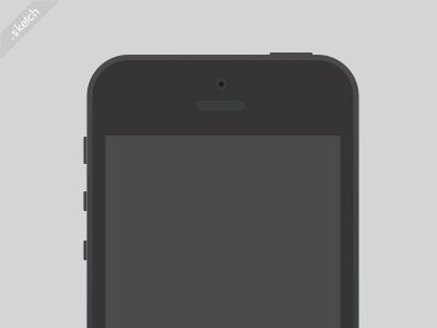 Simple vector iPhone Sketch freebie iphone iphone5 apple sketch freebie vector
