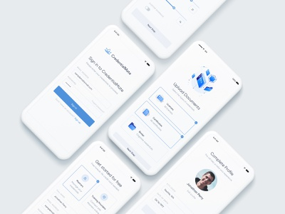 Mobile Onboarding | CredentialMate ai machine learning hyped onboarding ui documents compliance mobile ui mobile design maritime onboarding mobile