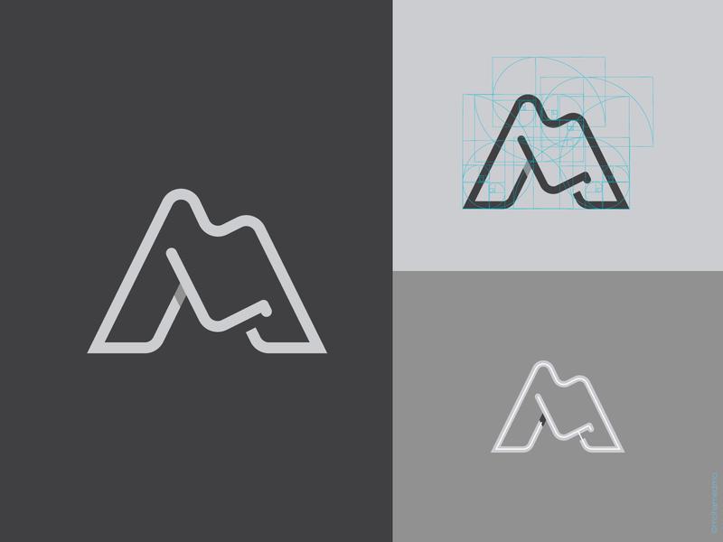 M L logo icon vector design logo for sale logoground logodesign lettering comfort chairs gray black white line goldenratio shadow typogaphy letter logo l m