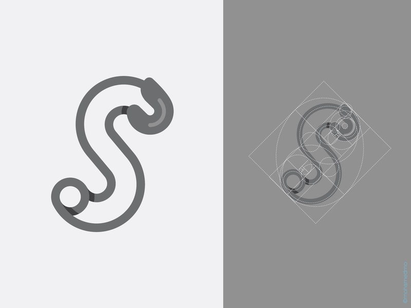 S Logo goldenratio shadow logoground logo for sale vector design gaminglogo game white black line outfit wear accessories fashion logo lettermark letter s safety pin
