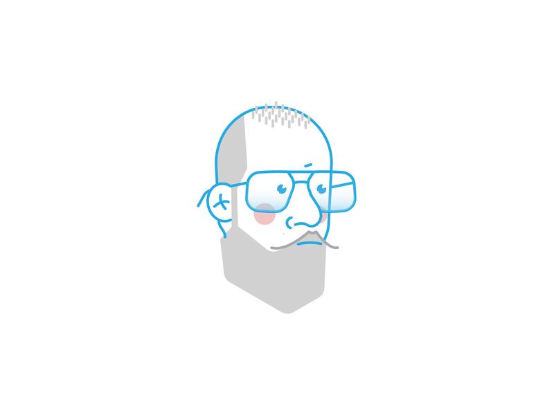 my avatar hipster mustache beard eyeglasses avatar icons id face ryan putnam personal branding icon vector illustraion avatar design design avatar