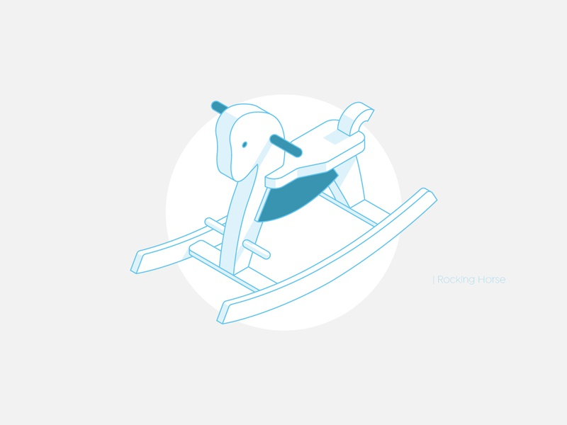 Rocking Horse vector illustration vector icons line shadow toy vintage design vector illustration icon isometry isometric illustration isometric design isometric icons isometric art isometric rocking chair