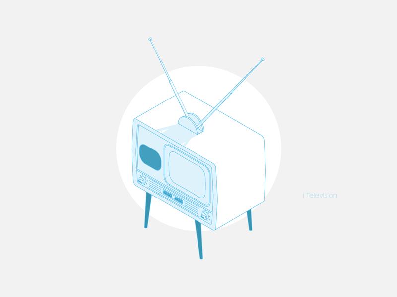Television television vintage icon vintage design vintage tv design shadow line icon vector illustration isometry isometric design isometric illustration isometric art isometric