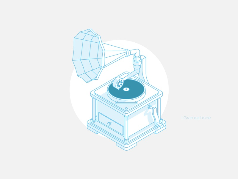Gramophone gramophone phonograph shadow vectordesign vectorart vector art music cd isometric illustration isometric design isometric art isometric illustration icon line design vector illustration vector