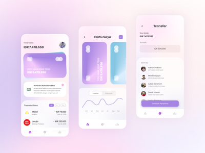 Bank App - Exploration UI uiuxdesign interface uidesign uxgraph uzdesign payment app money payment branding ecommerce apps design clean ux uiux ui