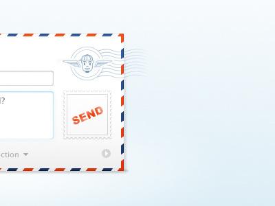 Teh Rog Dribbble web form design contact