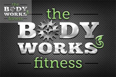 Body Works Fitness logotype biomech design marketing logo identity branding