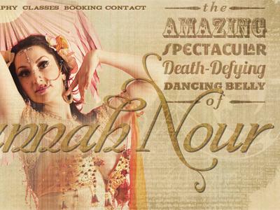 Hannah Nour Redesign vintage circus antique retro typography design