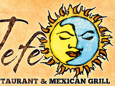 Fiesta! logo illustration texture antique weathered client mexican