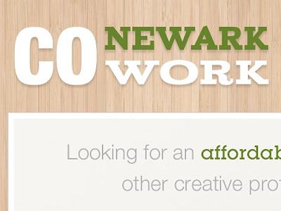 Newark CoWork Final cowork business branding clean minimalist green white texture wood