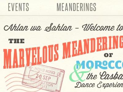 Marvelous Meanderings vintage type typography
