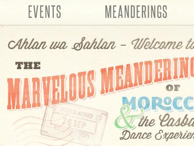 Marvelous Meanderings typography vintage retro stylization textured