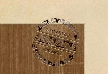 Guaranteed Authentic vintage circus antique retro typography design