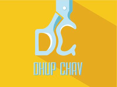 Dhup Chav -  Logo for local barbers in Mumbai barbers branding