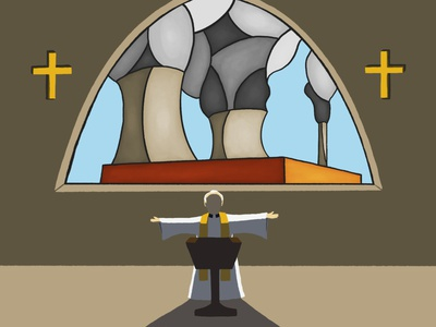 Church's investments in fossil fuels stained glass investments divestments fossil fuels church desmog leeds illustrator andy carter illustration design minimal conceptual editorial illustration editorial digital illustration illustration