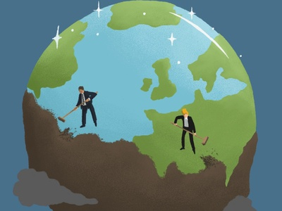 Unfair sustainability goals sdgs climate change andy carter illustration leeds illustrator leedsillustrator sustainability characters design minimal conceptual editorial illustration editorial digital illustration illustration