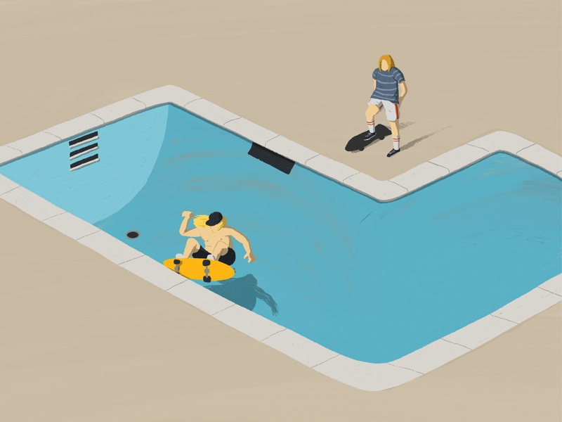 36 Days of Type - Lords of Dogtown oldschool lords of downtown skateboarding film illustration movie film characters design minimal illustration characters minimal design conceptual editorial illustration editorial illustration digital illustration