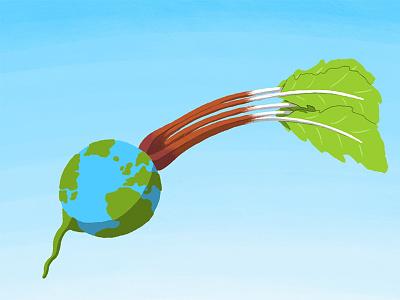 What if the Earth went vegan? climatechange climate veganism earth minimal illustration minimal design conceptual editorial illustration editorial illustration digital illustration