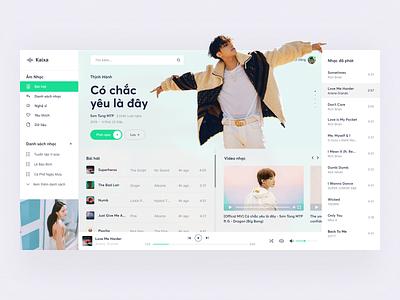 Music App Concept - Eggcademy Training music player music creative webdesign ui  ux design ui inteface graphicdesign desgin typography
