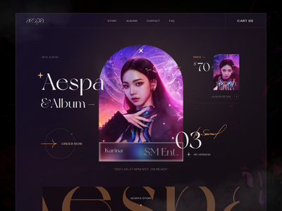 Aespa - Comeback Album 2021 uiux creative aespa fashion webdesign ui  ux design kaixapham inteface desgin ui graphicdesign typography