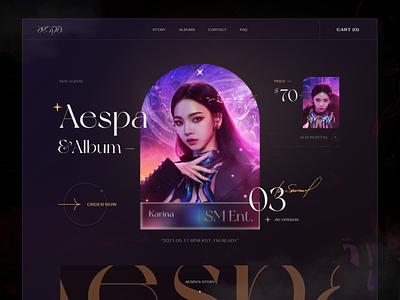 Aespa - Comeback Album 2021 uiux creative aespa fashion webdesign ui  ux design kaixapham inteface desgin ui graphicdesign typography