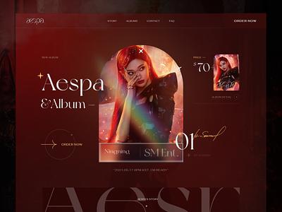 Aespa - Comeback Album 2021 - Ningning uiuxdesigner uiuxdesign sm easpa uiux vietnam fashion webdesign ui  ux design kaixapham inteface desgin ui typography graphicdesign