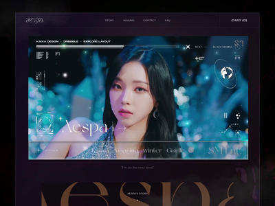 Aespa - Next Level - Display Frame uiux music letter typo korean creative aespa fashion webdesign ui  ux design kaixapham inteface desgin ui typography graphicdesign