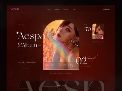 Aespa - Comeback Album 2021 - Winter typo composser singer video trending music vietnam fashion webdesign ui  ux design kaixapham inteface desgin ui typography graphicdesign
