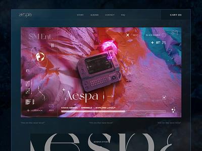 Aespa - Next Level - Display Frame 002 dailyui aesthetic layout creative uiux singer trending music korean aespa vietnam fashion webdesign ui  ux design kaixapham inteface desgin ui typography graphicdesign