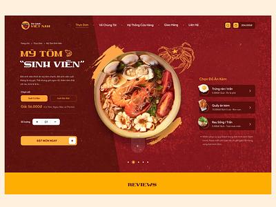 Vietnamese Food Ordering Website Concept kaixapham typography ui  ux design inteface product noodle orders creative vietnamese food ux branding motion graphics graphic design 3d animation ui