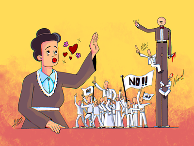 Revolution doodle art illustration