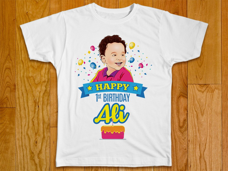 My Baby Ali 1st Birthday Design