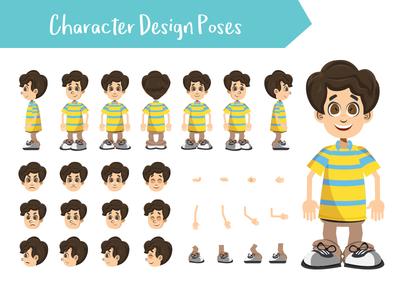 Boy character creation set