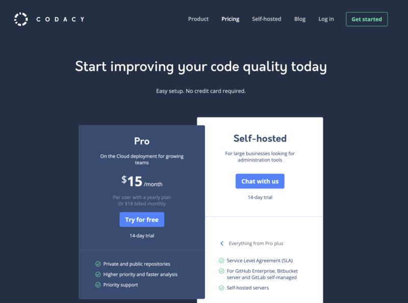 Pricing page website pricing plan