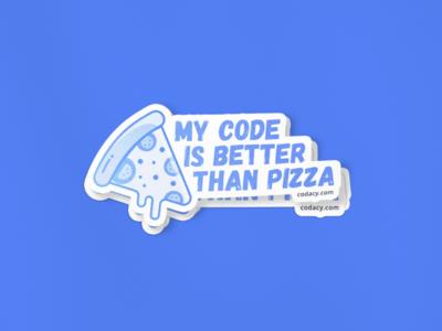 Code Goals illustration fun sticker code pizza