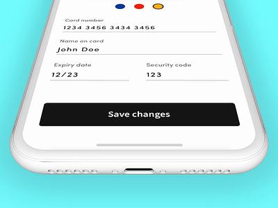 Bankcard Flipping Animation uianimation uiux protopie5.0