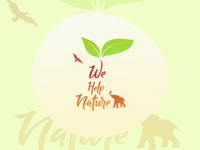 We help nature - Logo Design