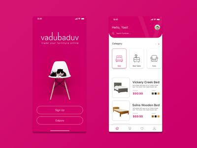 Furniture Selling App ecommerce furnitureselling n uxdesign uidesig uiux