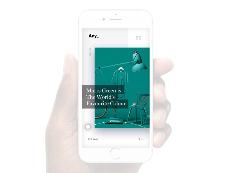 The Any_ app, curated weekly by one of our designers. swipe news app